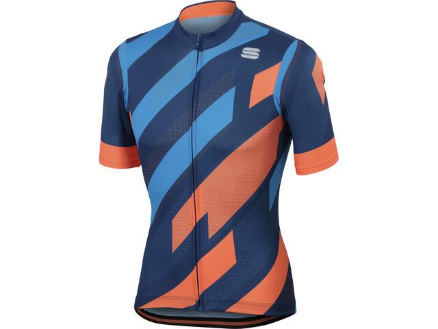 Sportful Volt Jersey Herr twilight blue/electric blue/orange